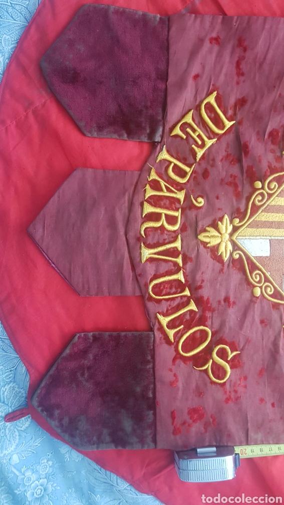 Varios objetos de Arte: Antiguo estandarte escuela municipal de párvulos. Ayuntamiento de Barcelona - Foto 4 - 210647496