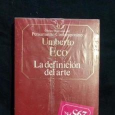 Varios objetos de Arte: LA DEFINICIÓN DEL ARTE - UMBERTO ECO. Lote 211508054