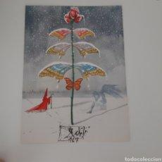 Varios objetos de Arte: SALVADOR DALÍ CREADO PARA HOECHST IBÉRICA SALVADOR DALÍ FELICITACIÓN NAVIDEÑA 1967. Lote 211510350