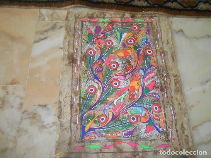 Varios objetos de Arte: TRES PINTURAS SOBRE LAMINAS DE MADERA ?MEJICO¿ - Foto 3 - 211747387