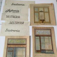 Varios objetos de Arte: ANTONIO BADRINAS I ESCUDE (TARRASA 1882-1969) PINTOR,MUEBLISTA,DECORADOR - (REUS ??') ANTIGUO PROYE. Lote 211806845