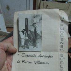 Varios objetos de Arte: PINTORES Y FOTOGRAFOS VILLENENSES 1974 EXPOSICION ANTOLOGICA CON FOTO ORIGINAL GRUPO SALVATIERRA. Lote 212255372