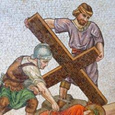 Varios objetos de Arte: GRAN MOSAICO RELIGIOSO CON TESELAS DE PIEDRA MARMOL. Lote 212747770
