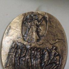 Varios objetos de Arte: MEDALLA BRONCE AÑO JUBILAR COMPOSTELANO 1999 FIRMADA MEDIDA 8 CM EN SU CAJA. Lote 213512956
