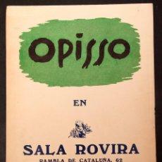 Varios objetos de Arte: RICARD OPISSO - SALA ROVIRA - 1946 - CARTEL. Lote 213880972