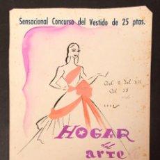 Varios objetos de Arte: ORIGINAL PARA CARTEL - 1946 - FIRMADO COVES. Lote 213881212