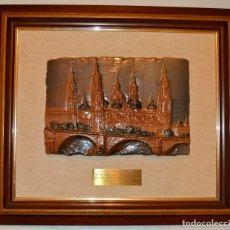 Varios objetos de Arte: CUADRO CERAMICA VIDRIADA PILAR DE ZARAGOZA 54X46 M. Lote 214075751