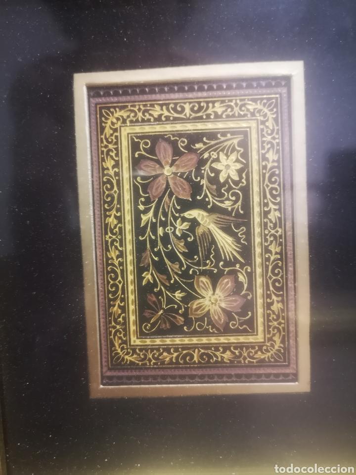 Varios objetos de Arte: Cuadro con Damasquinado Toledano, Enmarcado 20x23cm - Foto 3 - 214214216