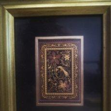 Varios objetos de Arte: CUADRO CON DAMASQUINADO TOLEDANO, ENMARCADO 20X23CM. Lote 214214216