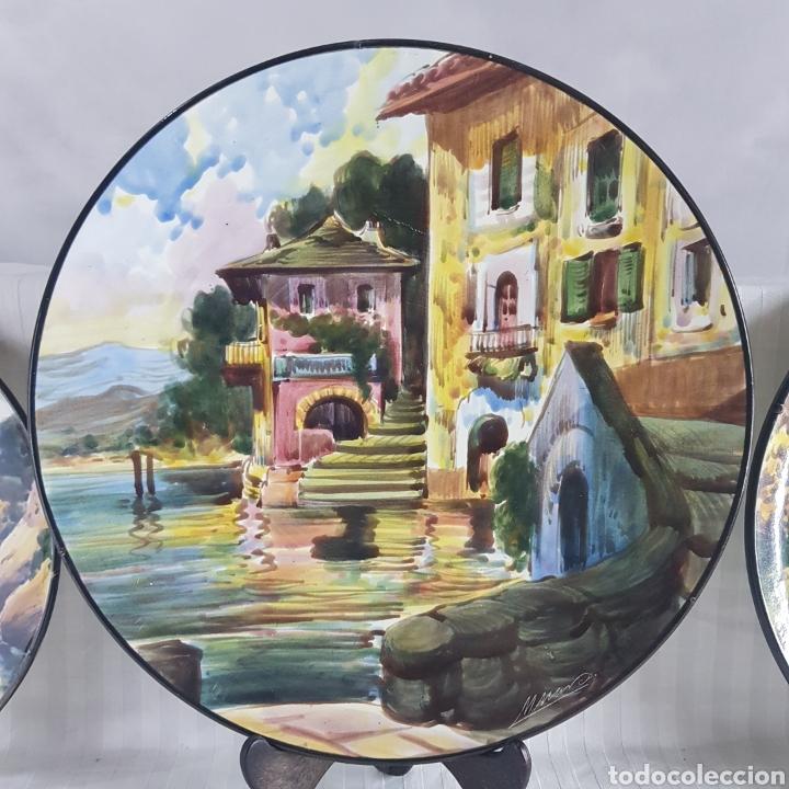 Varios objetos de Arte: Platos Pintados a Mano por M. Marco - Foto 2 - 214214492