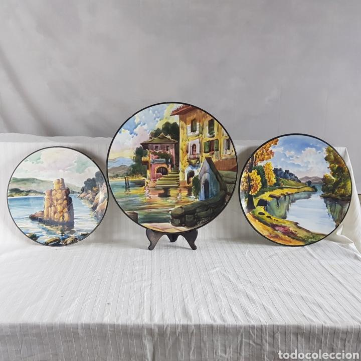 Varios objetos de Arte: Platos Pintados a Mano por M. Marco - Foto 5 - 214214492