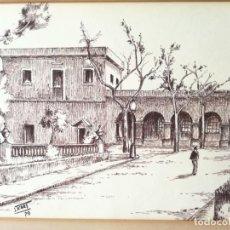 Arte: J.ICART ( JAUME ICART SAMPERE , GRANOLLERS 1917 ) REPRODUCCION DE DIBUJO ENMARCADO. Lote 214453788