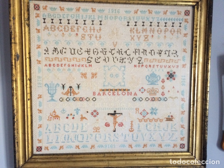 Varios objetos de Arte: Antiguo bordado de 1916 - Foto 2 - 214463178