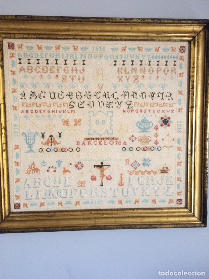 Varios objetos de Arte: Antiguo bordado de 1916 - Foto 3 - 214463178