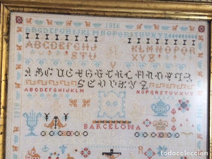 Varios objetos de Arte: Antiguo bordado de 1916 - Foto 7 - 214463178
