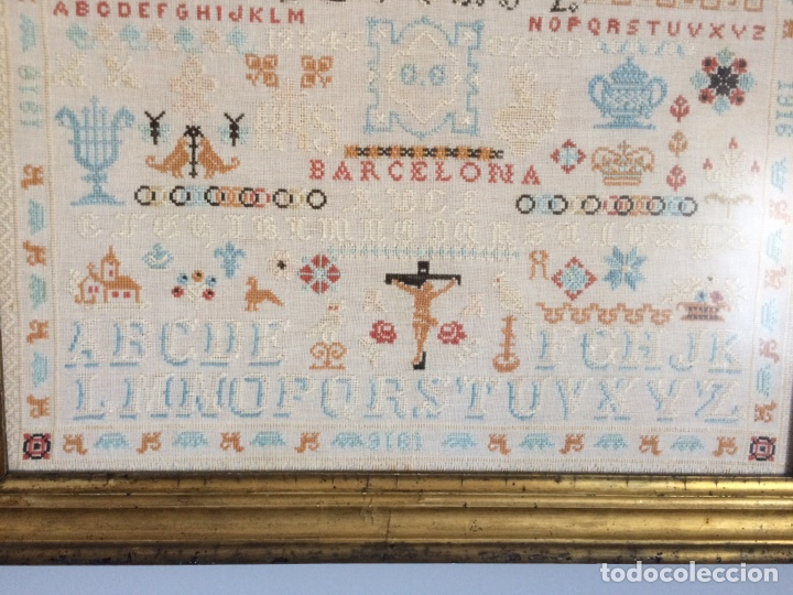 Varios objetos de Arte: Antiguo bordado de 1916 - Foto 15 - 214463178