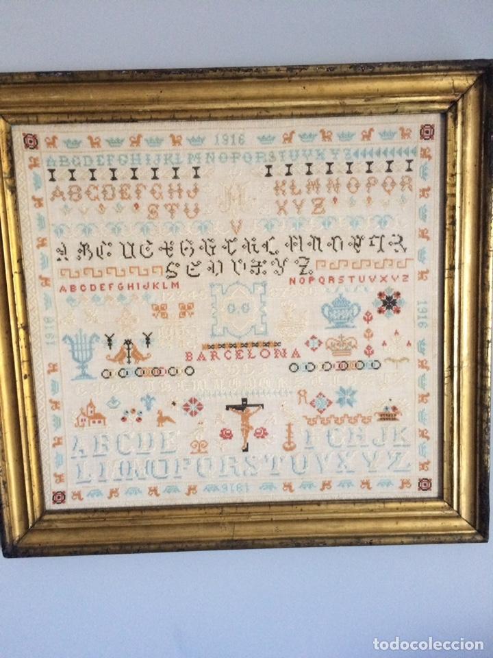 Varios objetos de Arte: Antiguo bordado de 1916 - Foto 20 - 214463178