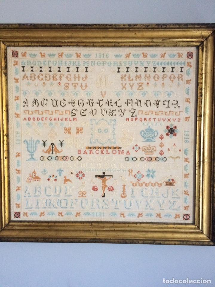 ANTIGUO BORDADO DE 1916 (Arte - Varios Objetos de Arte)