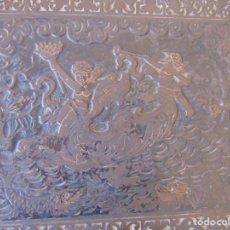 Varios objetos de Arte: PLANCHA EN HIERRO CON ESCENA DE MITOLOGIA GRIEGA QUERUBINES Y ANIMALES CHIMENEA , GRABAR O SIMILAR. Lote 214811310