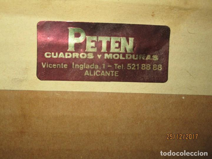Varios objetos de Arte: ESCUDO HERALDICO MENENDEZ ESMALTE EN PORCELANA ENMARCADO POR PETEN ALICANTE - Foto 4 - 214812715