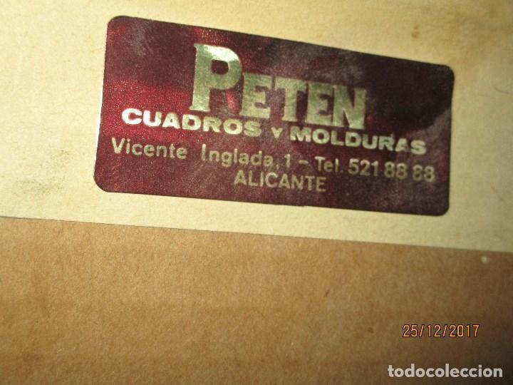 Varios objetos de Arte: ESCUDO HERALDICO MENENDEZ ESMALTE EN PORCELANA ENMARCADO POR PETEN ALICANTE - Foto 5 - 214812715