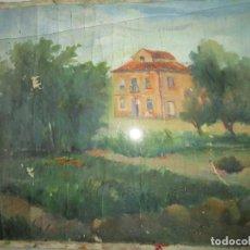 Varios objetos de Arte: ANTIGUA PINTURA IMPRESIONISTA OLEO EN LIENZO CASERON ADQUIRIDO EN ALICANTE. Lote 92457610