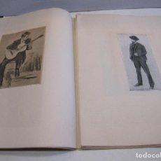 Varios objetos de Arte: ALBUM FACTICIO DEDICADO A LAS OBRAS DE RAMON CASAS. HOJAS CON LAMINAS ENCOLADAS. Lote 215120282