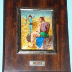 Varios objetos de Arte: ESMALTE CON REPRODUCCIÓN DE OBRA DE PICASSO. Lote 216527125