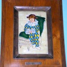 Varios objetos de Arte: ESMALTE CON REPRODUCCIÓN DE ARLEQUÍN DE PICASSO. Lote 216527126