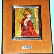 Varios objetos de Arte: ESMALTE CON REPRODUCCIÓN DE PINTURA DE T.. LAUTREC. Lote 216527150