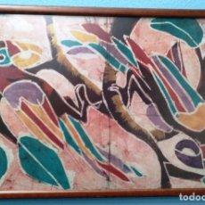 Varios objetos de Arte: BATIK AFRICANO ( TELA PINTADA A MANO) LOROS. PERFECTO ESTADO. Lote 216542992