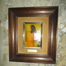 Varios objetos de Arte: ESMALTE EN METAL ANTIGUO GALA MUSA DE SALVADOR DALI AÑOS 80. Lote 216547226