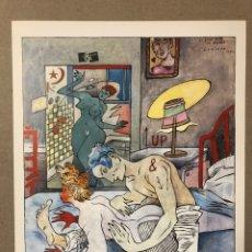 "Varios objetos de Arte: CEESEPE ""EL GRAN AMOR DE AMADEO"" (1984). LAMINA DE 24,5 X 32 CMS.. Lote 216553907"