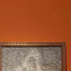 Varios objetos de Arte: CUADRO TELA CON DIBUJO BORDADO A MANO VER FOTOS. Lote 216563598