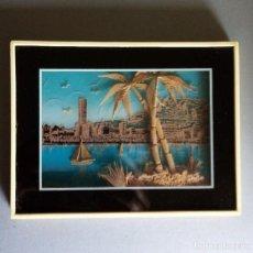 Varios objetos de Arte: ANTIGUO CUADRO CREADO CON CORCHO. MUY BONITO. Lote 216704115