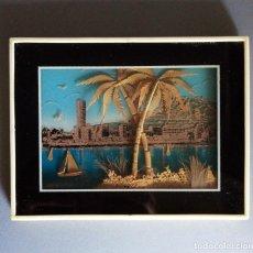 Varios objetos de Arte: ANTIGUO CUADRO CREADO CON CORCHO. MUY BONITO. Lote 216704257