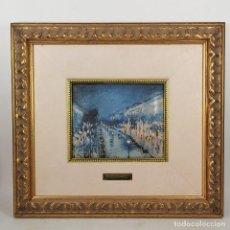 Art: ANTIGUA OBRA DE CAMILLE PISSARRO ESMALTADA - ESMALTE AL FUEGO - ENMARCADA - 34 X 31 CM. Lote 216866878