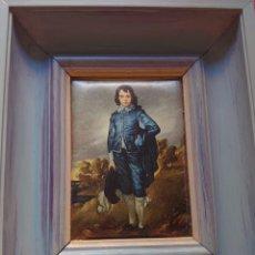 Varios objetos de Arte: CUADRO SEDA JOVEN AZUL THOMAS GAINSBOROUGH. Lote 216961495