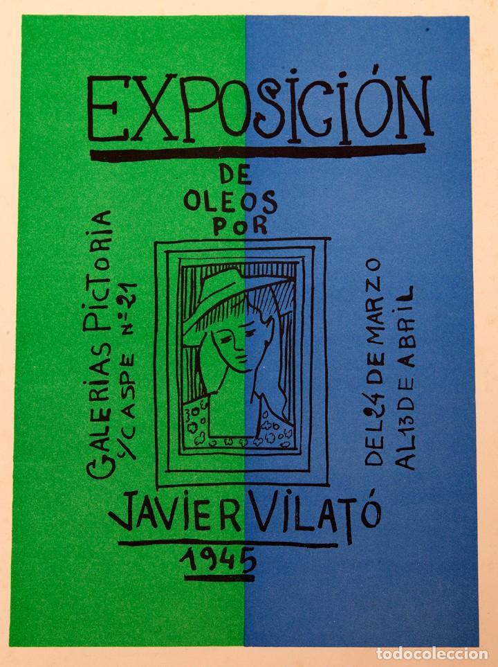 VILATÓ - CARTEL LITOGRÁFICO - 1945 - GALERÍA PICTORIA (Arte - Varios Objetos de Arte)