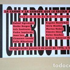 Art: CHARCUTERÍA. LA CARNE Y LA SANGRE QUE LE FALTAN A LOS '90. GALERÍA BUADES, 1996. Lote 217567858