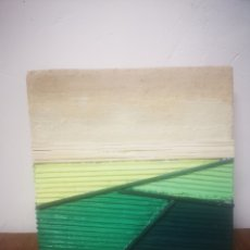 Varios objetos de Arte: CARLOS PUENTE, TECNICA MIXTA, 24X24CM, PRADOS. Lote 217594340