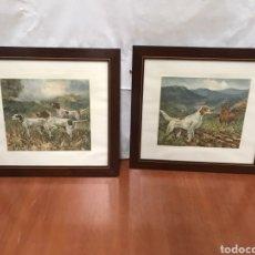 Varios objetos de Arte: PAREJA DE CUADROS MOTIVO CAZA. Lote 217858968