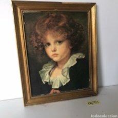 Varios objetos de Arte: CUADRO DE NIÑA DE EPOCA. Lote 217946283