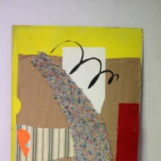 Varios objetos de Arte: LOLAILA CARMONA - COLLAGE TECNICA MIXTA, ABSTRACCIÓN. 36×51 CM. Lote 217989788