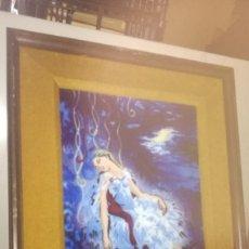 Varios objetos de Arte: CUADRO VIDRIADO SIN FIRMA 44 X 54 CM. Lote 218156977