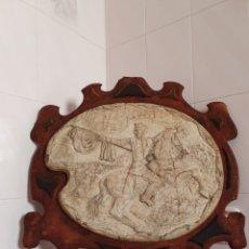 Varios objetos de Arte: MEDALLON DE GRAN TAMAÑO REALIZADO EN BAJORRELIEVE DE UN GENERAL ESTA DEDICADO Y FECHADO EN 1901. Lote 218212862