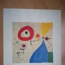 Varios objetos de Arte: JOAN MIRÓ. SIN TÍTULO. LÁMINA. SELLO EN SECO.. Lote 218820526
