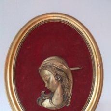 Varios objetos de Arte: CUADRO OVALADO MUJER. Lote 220355890