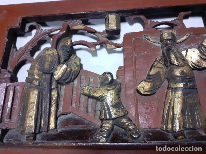 TABLA TALLADA CHINA -- ASTURIAS,OVIEDO,GIJÓN, VALENCIA,MADRID,VASCO,SANTANDER, GALICIA (Arte - Varios Objetos de Arte)