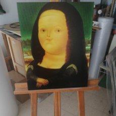 Varios objetos de Arte: FERNANDO BOTERO - MONALISA GIOCONDA CUADRO REPRODUCCION SOBRE BASTIDOR DE MADERA (RETABLO) 70X50 CM. Lote 221251030